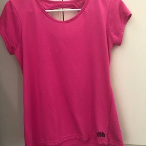 North face women's tee cutout in back